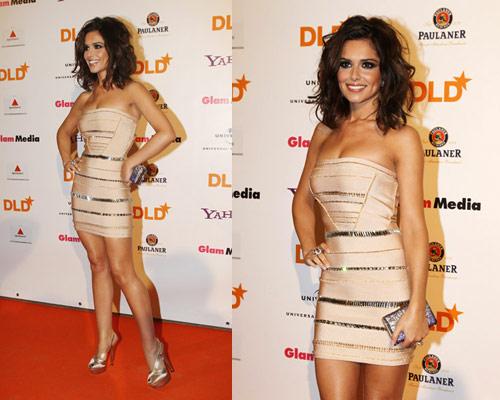 Cheryl Cole in Herve Leger All Over Sequins Bandage Cocktail Dress