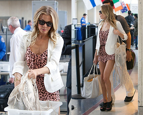 LeAnn rimes in Diane Von Furstenberg Alysa Cover Up Romper