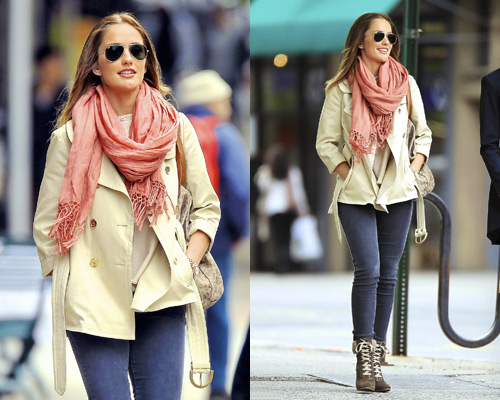 Minka Kelly in Ray-Ban and Theodora