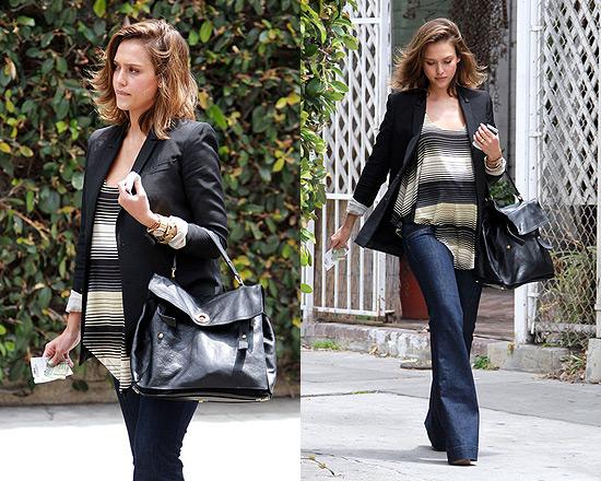 Get Jessica Albas Yves Saint-Laurent Muse bag