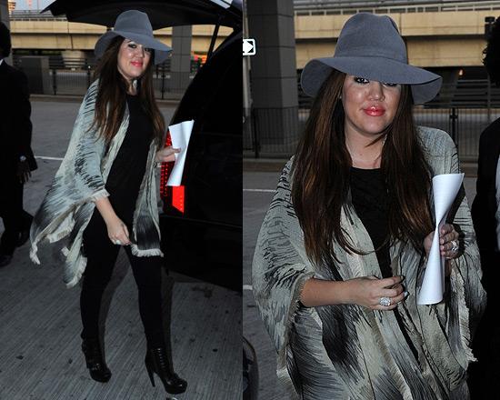 Khloe Kardashian in Alexander McQueen Ski Buckle Boots