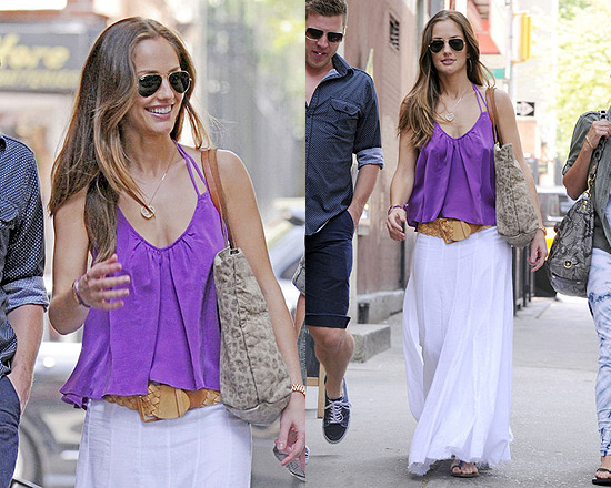 Minka Kelly in Jarbo Cinderella Skirt