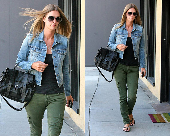 Nicky Hilton steps out in Levis denim jacket