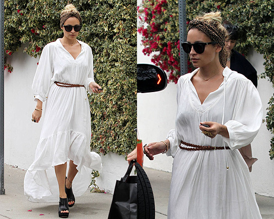 Nicole Richie in Odylyne Barbet Long Dress