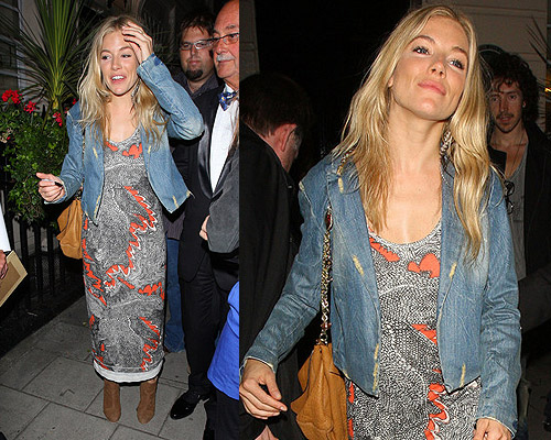Sienna Miller steps out in Twenty8Twelve Jaid Midi Dress