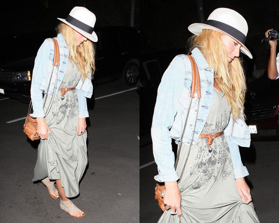 Blake Lively in Free People Maunakea Trapeze Maxi