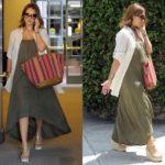 Jessica Alba in Lanston Knit Maxi Dress