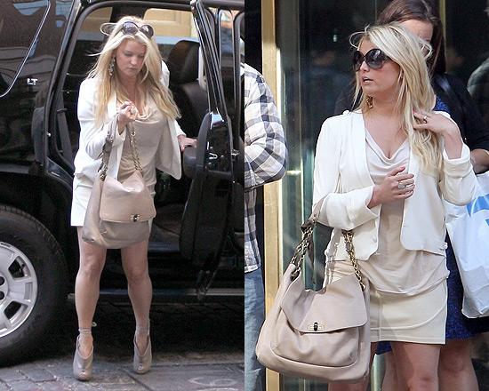 Jessica Simpson looking stylish in Vanessa Bruno Blazer