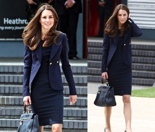 Kate Middleton in Smythe One Button Blazer
