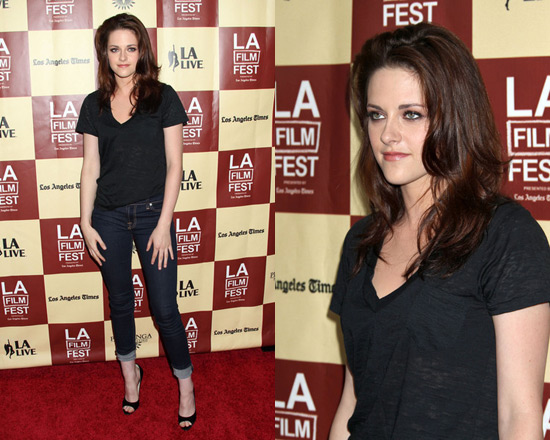 Kristen Stewart in 7 For All Mankind Skinny Jeans