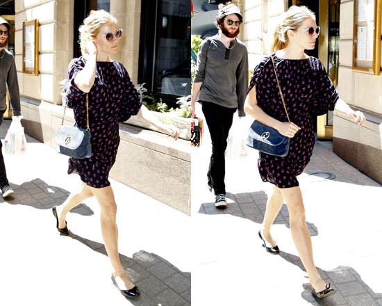 Sienna Miller in Tucker Mini Dress