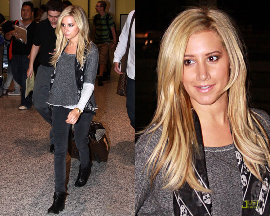 Ashley Tisdale in Generation Love Bobo 2 Tone Combo Sweatshirt