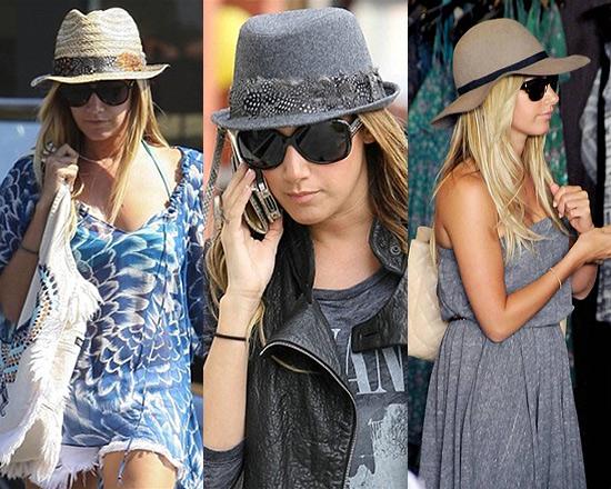 Ashley Tisdale Loves Her Hats
