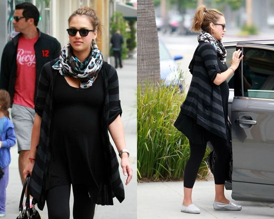 Jessica Alba in One Grey Day Sherry Sweater