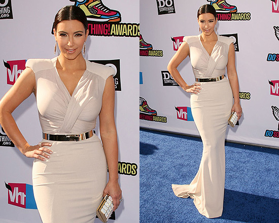 Kim Kardashian in Antonio Berardi dress at 2011 Do Something Awards