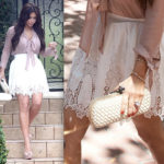 Kim Kardashian looking cute in Intermix and Quail