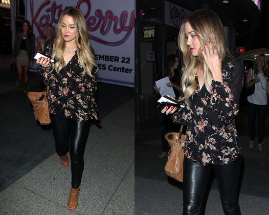 Lauren Conrad wearing Paper Crown Serena Faux Leather Legging