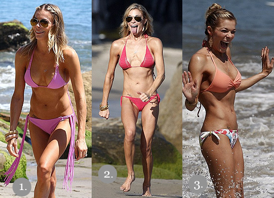 LeAnn Rimes hits the beach in Malibu wearing 3 different bikinis