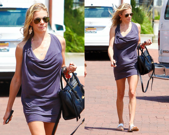 LeAnn Rimes out in Malibu wearing Riller & Fount Jinx Mini Dress