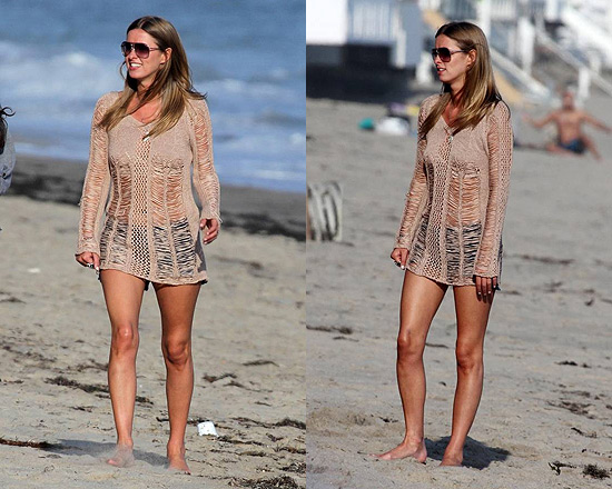 Nicky Hilton wearing Torn by Ronny Kobo Mia Holes Sweater