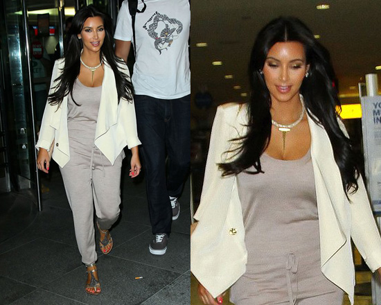 Kim Kardashian in Silk Jumpsuit by Stella Mccartney