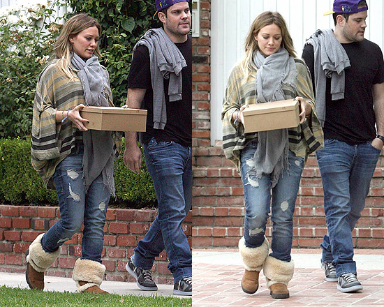 Hilary Duff wearing Micheal Lauren Bruce Cape Tee