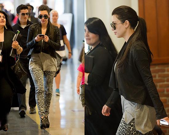 Kim Kardashian in Philipp Plein Leopard Leggings