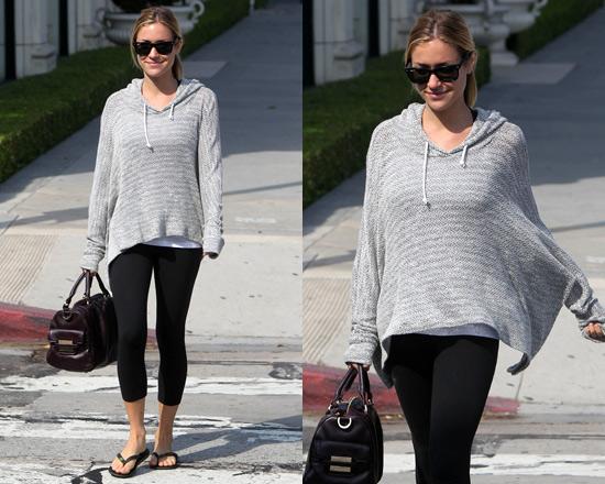 Kristin Cavallari wearing LnA Crepe Hoodie