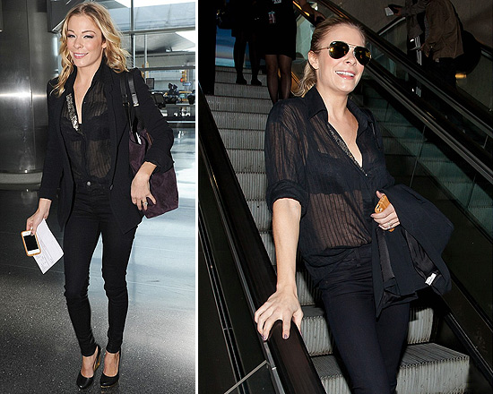 LeAnn Rimes in Rag & Bone The Jodhpur Legging Jeans and Lanvin Cutout Heel Pumps