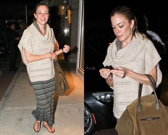 LeAnn Rimes wearing Splendid Maxi Skirt and Sweater