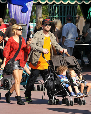 Nicole Richie at Disneyland wearing Winter Kate Tiger Lily Shirt