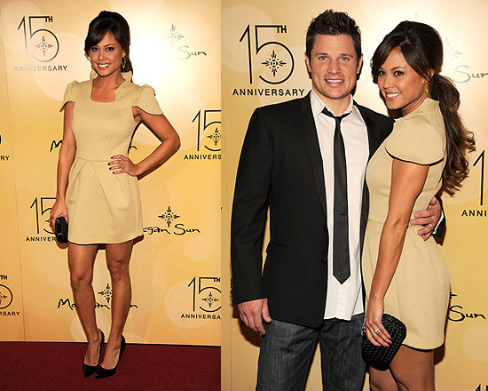 Vanessa Minnillo in Cameo Sin City Dress