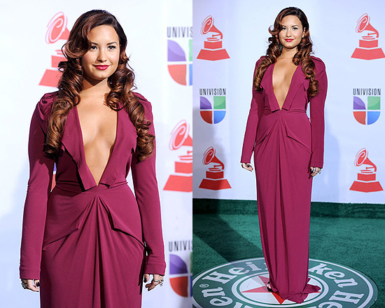 Demi Lovato wearing Roland Mouret at the Latin GRAMMY Awards