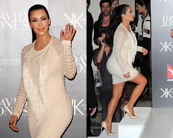 Kim Kardashian in Isabel Marant Mana fringed stretch-lace dress