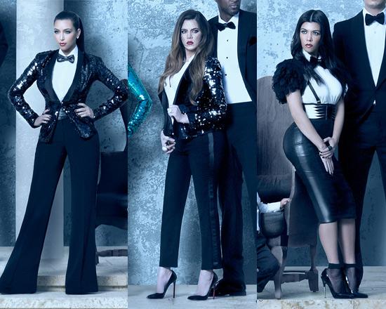 Kardashian Christmas Card   Kim, Khloé And Kourtney