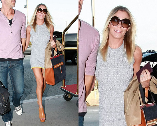 LeAnn Rimes goes Retro in Alexander Wang Honeycomb Knit Dress