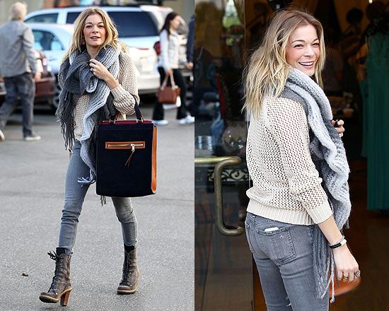 LeAnn Rimes goes hat shopping in Isabel Marant Crochet Jumper