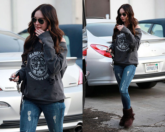 Megan Fox wearing Siwy Hannah Cropped Jean in First Love