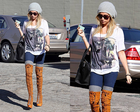 Ashley Tisdale Free People Devandra Tall Boot