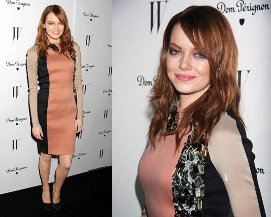Emma Stone in Lanvin Swarovski Crystal Snake Dress