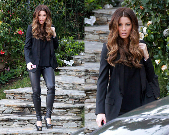 Kate Beckinsale in Stella McCartney Mathilda wool-twill blazer