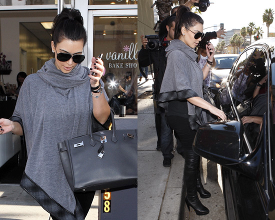 Kim Kardashian wearing 6 Shore Road Audrey Poncho
