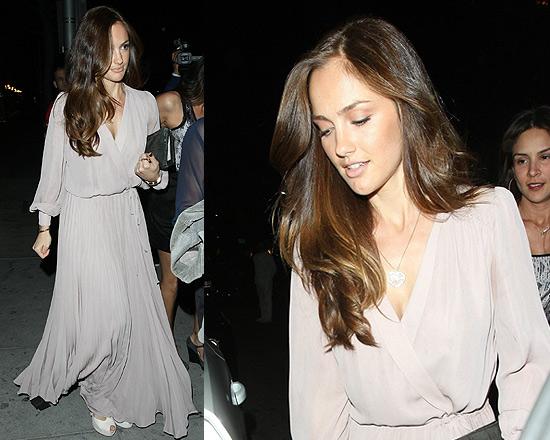 Minka Kelly in Parker Wrap Dress