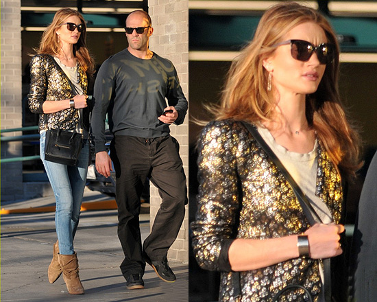 Rosie Huntington-Whiteley wearing Vanessa Bruno Jacquard Jacket