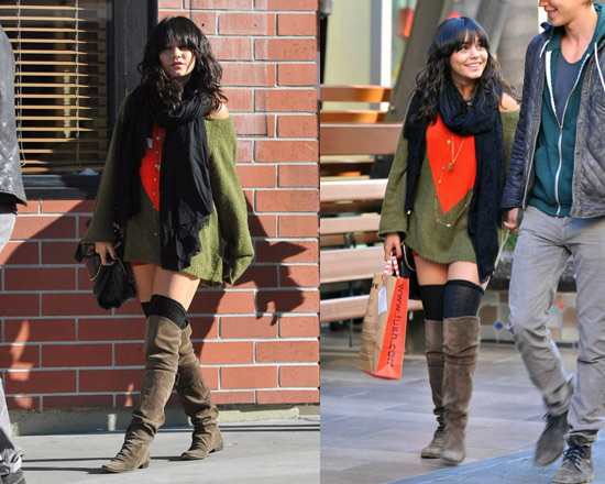 Vanessa Hudgens in Wildfox Couture Bianca Jagger Penny Lane Sweater