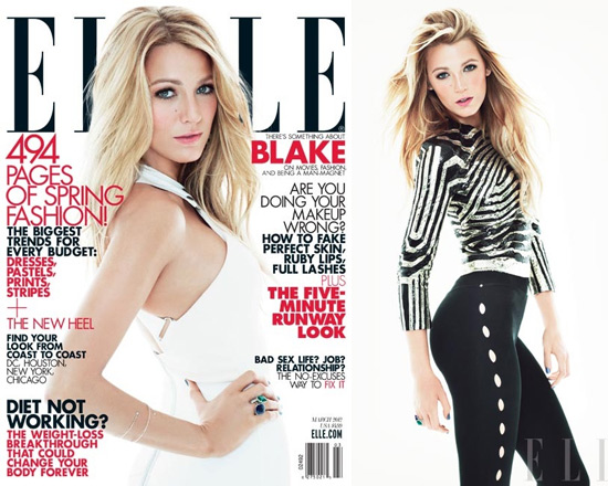 Blake Lively ELLE Magazine March 2012