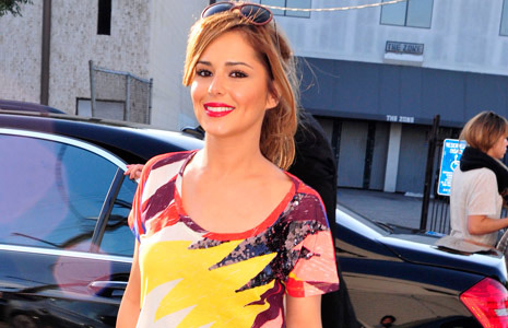Cheryl Cole in Sass and bide Silence is Golden T-shirt