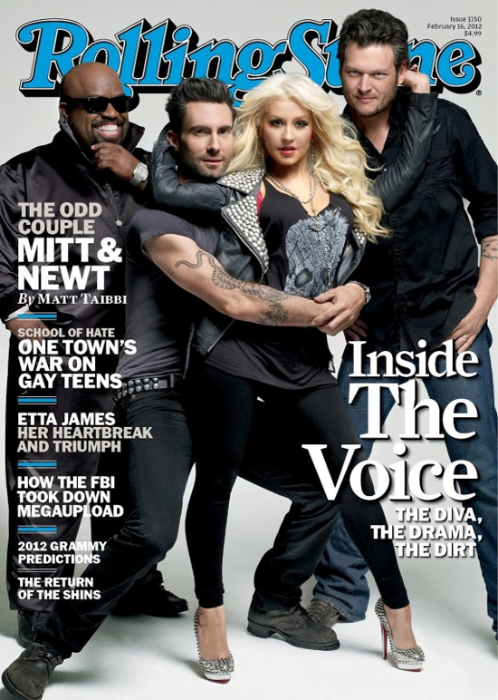 Christina Aguilera wears Christian Louboutin Alti 160 spiked pumps on Rolling Stone cover