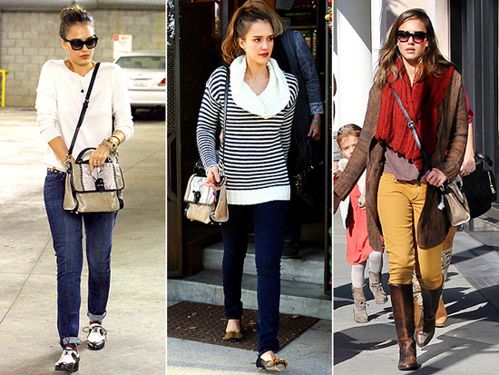 Jessica Alba Loves Rebecca Minkoff The Chance Briefcase