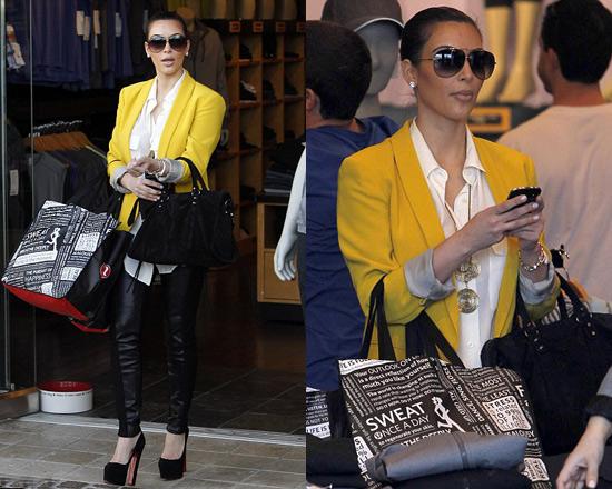 Kim Kardashian steps out in Yellow Stella McCartney Blazer